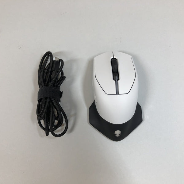 Alienware Wired/Wireless Gaming Mouse AW610M RGB Lighting Lunar Light Used
