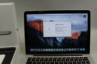 Apple Macbook Pro Retina 13-inch Early 2015 Silver A1502 128GB SSD 8GB RAM 2.7GHz CPU Intel Core i5 Used In Box