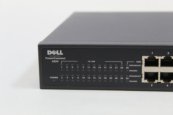 DELL - POWERCONNECT 2324 / 24-PORT FAST ETHERNET SWITCH (USED) | P2343NP