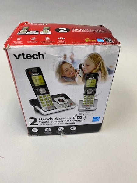 Vtech 2 Handset Cordless Digital Answering System w/Caller ID and Call Waiting CS6829-2 - USED open Box