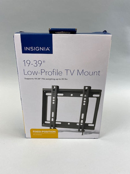 "Insignia 19-39"" Low-Profile TV Mount supports weight up to 35lbs Fixed - New in Box"