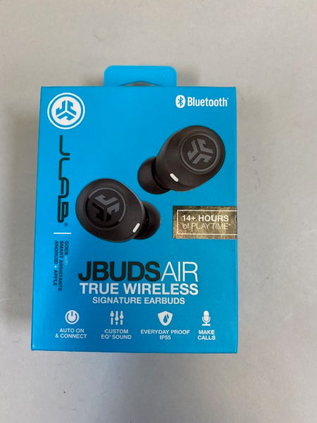 JLab JBuds Air True Wireless Bluetooth In-Ear Headphones-Black Open Box Tested