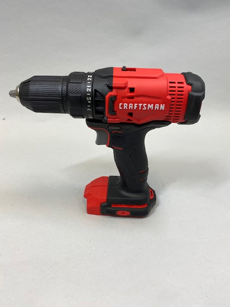 "Craftsman CMCD700 V20 Cordless 1/2"" Drill Driver 20 Volt Tool Only - USED Great Condition"