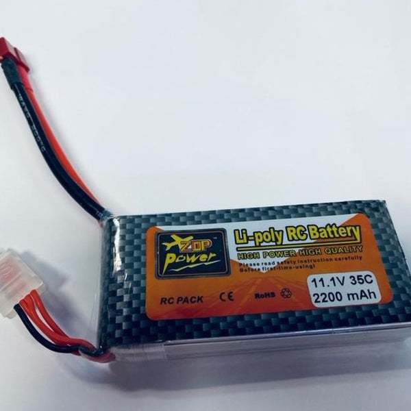 11.1V 25C 5000mAh Li-poly RC Battery for RC Car FPV Drone Helicopter Mm - New