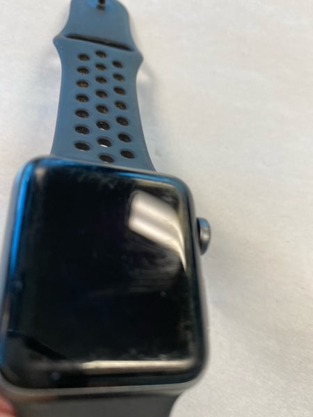 Apple Watch Series 3 Nike + 38mm, GPS, Space Gray, Aluminum Black Sport A1858 - Used