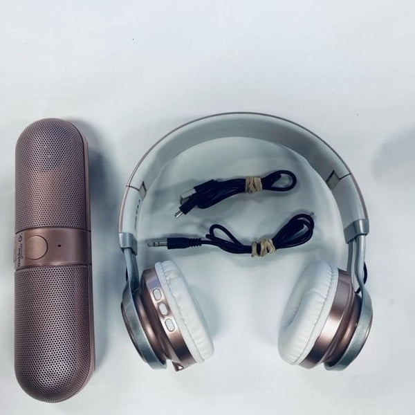 Gabba Goods GG-GSMX Bluetooth Metallic Speaker and Headset - Used