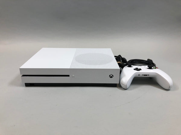 MIcrosoft Xbox One S 1TB Model 1681 White Console, Controller, & Cords Used