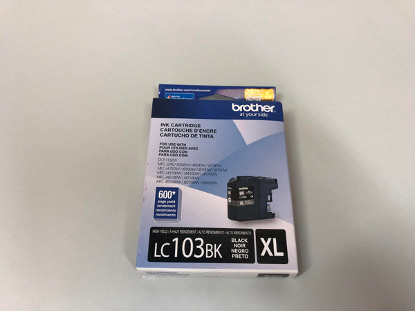 Brother LC103BK High Yield ink cartridge-Black- New in Box