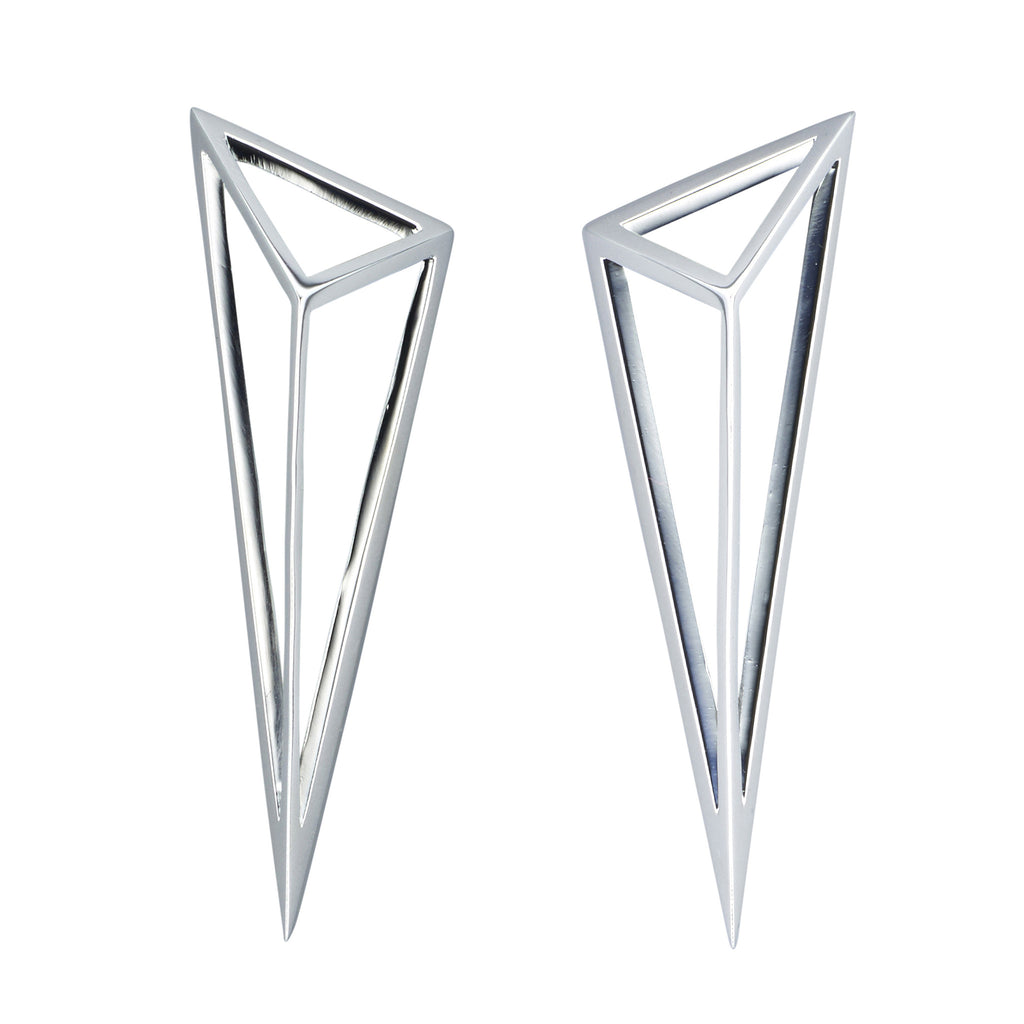 Asymmetric Oversized Pyramid Earrings