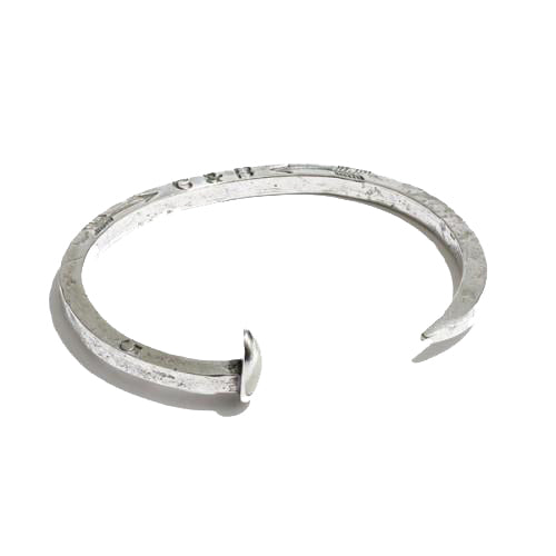 Giles & Brother Skinny Railroad Spike Cuff | Silver