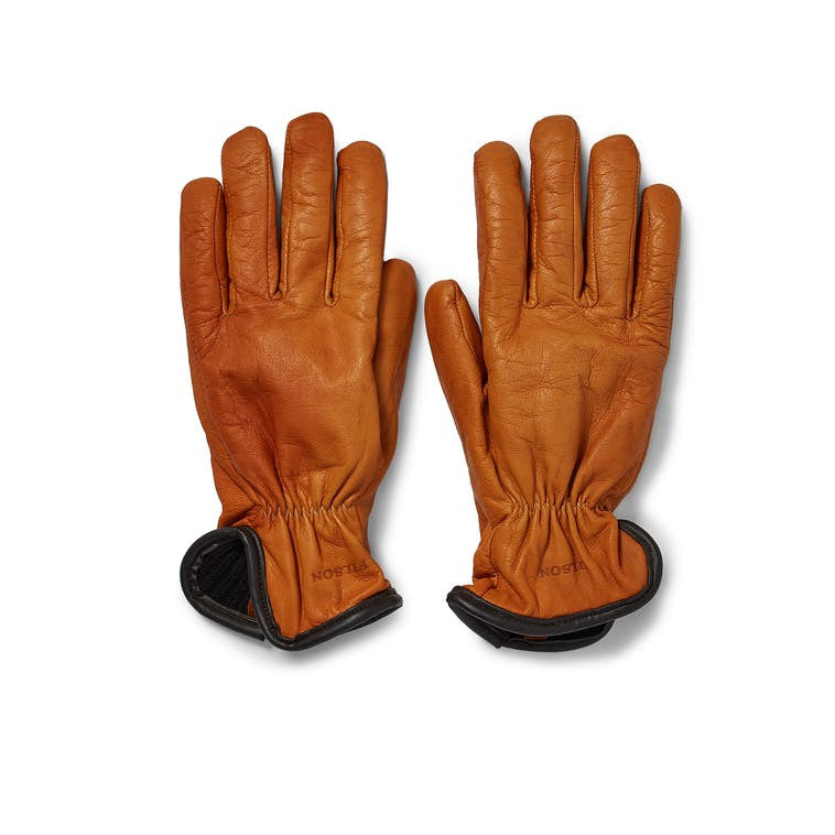 Lined Goatskin Gloves | Saddle