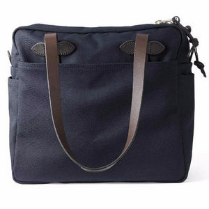 Zippered Tote Bag | Navy