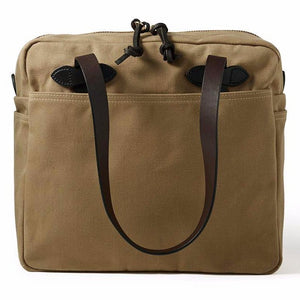 Zippered Tote Bag | Tan