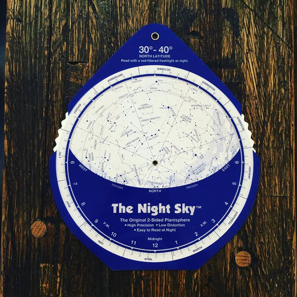The Night Sky Planisphere | 30°- 40° N