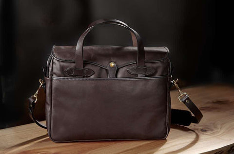 Filson Weatherproof Leather Original Briefcase | Brown
