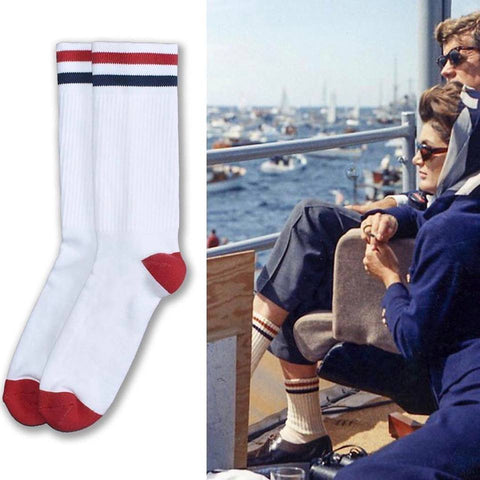 American Trench Kennedy Lux Athletic Socks | White