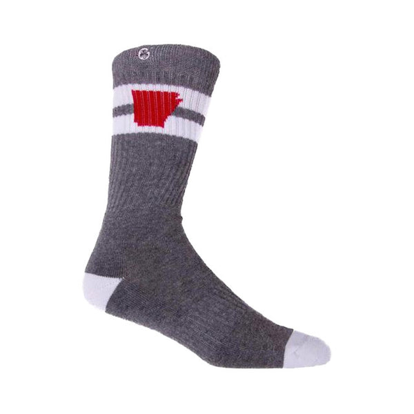 Arkansocks Tailgater Socks | Charcoal