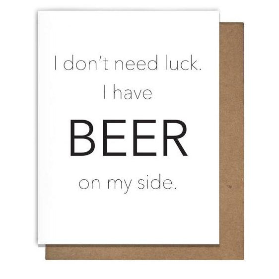Beer Luck Card