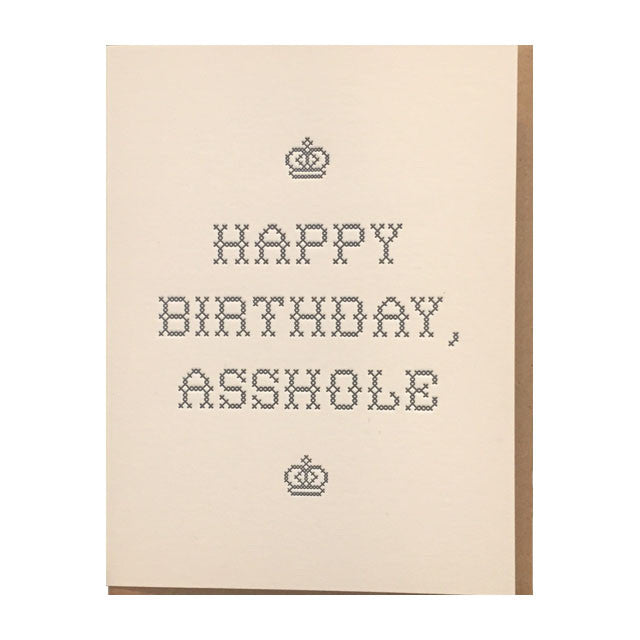 Happy Birthday A Hole Card