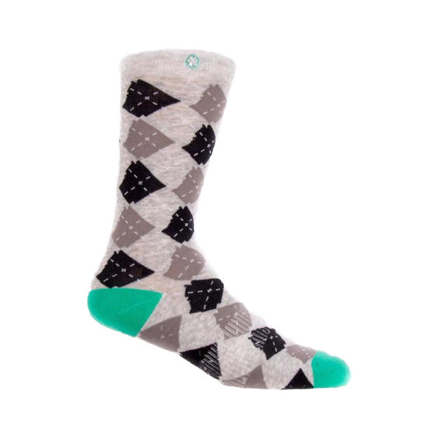 Argyle State Socks | Heather
