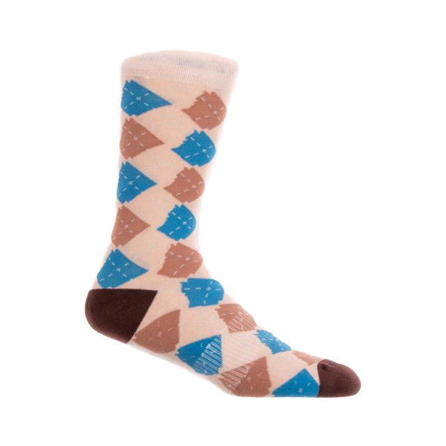 Argyle State Socks | Bone