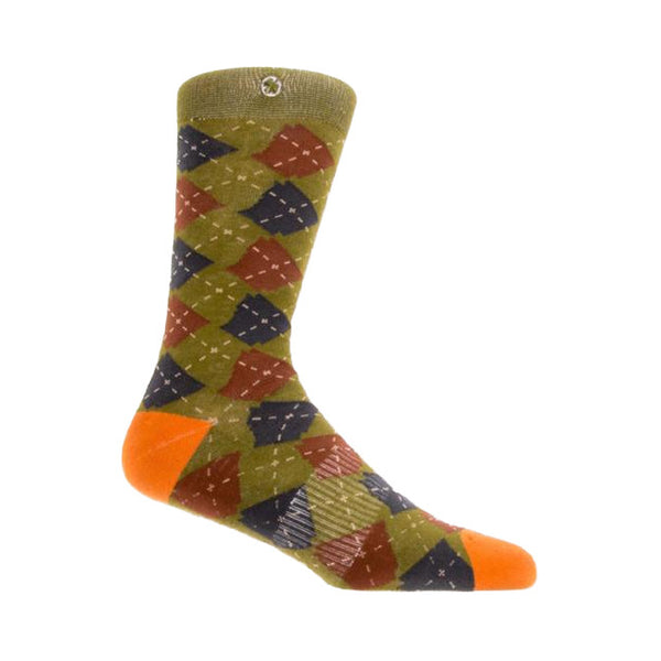 Arkansocks Argyle State Socks | Mandarin