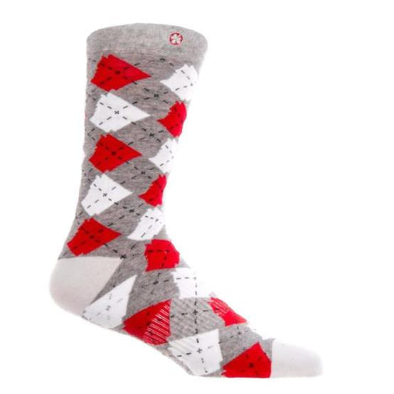 Argyle State Sock | Charcoal
