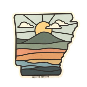 Arkansas Pinnacle Sunrise Sticker