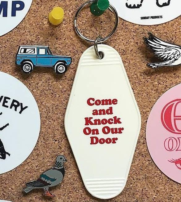 Come and Knock on Our Door Key Tag