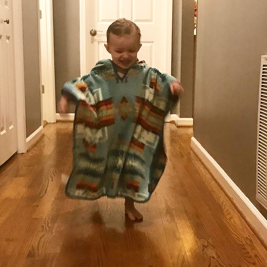 Kids Jacquard Hooded Towel | Chief Joseph