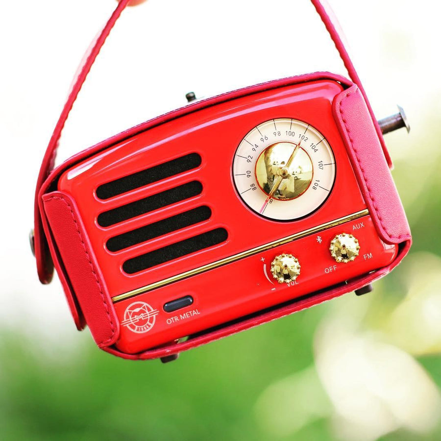 OTR Red Metal Radio Speaker