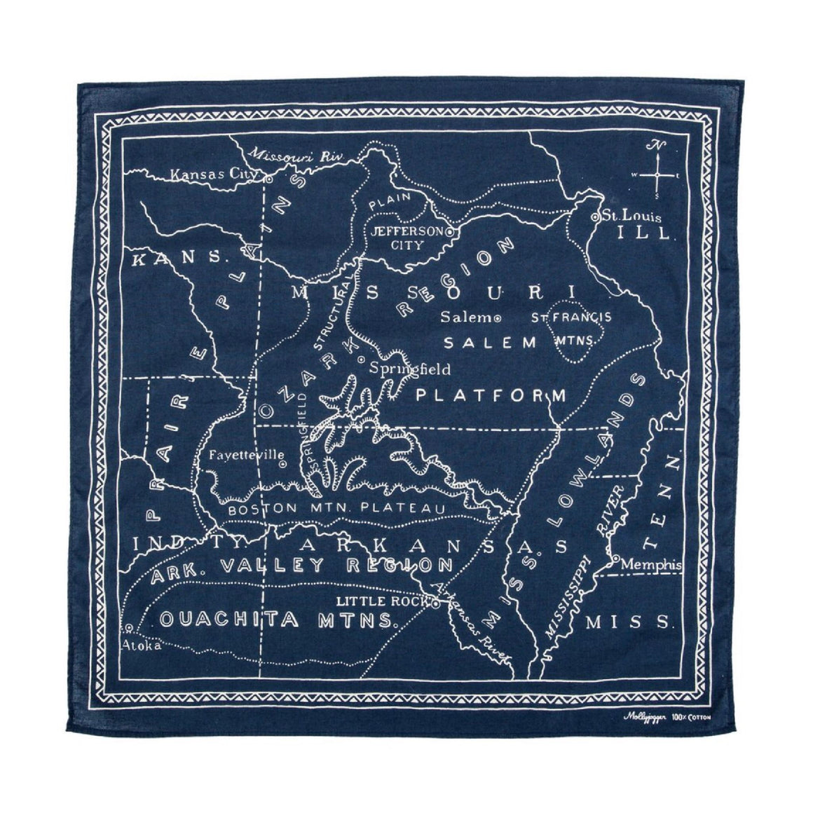 Ozarks 1900 Bandana | Midnight