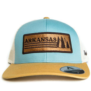 Arkansas Trees Trucker Hat | Smoke