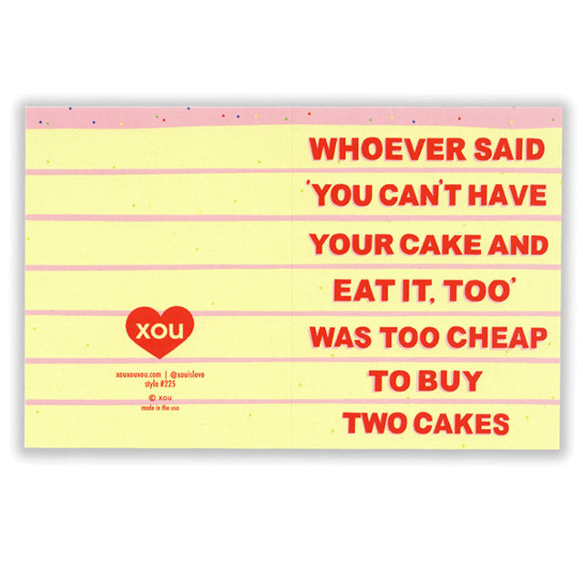 Cheap Cake Card