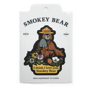 I Love You Smokey the Bear Sticker