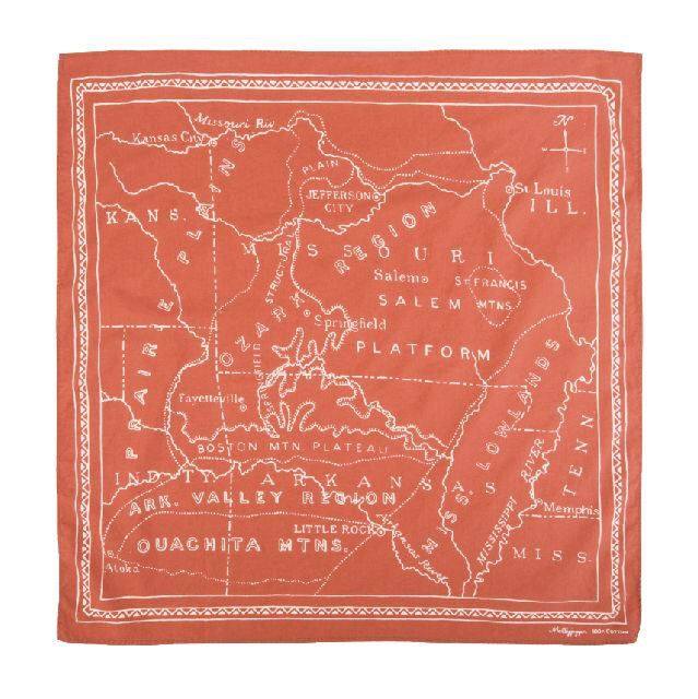 Ozarks 1900 Bandana | Harvest Orange