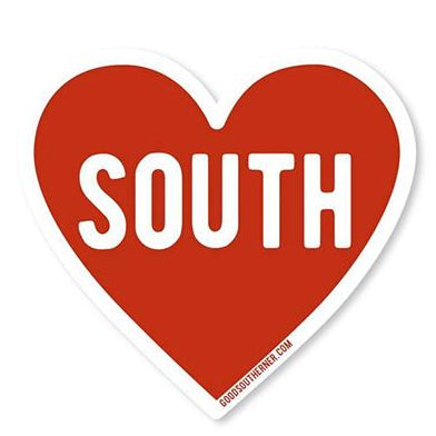 Heart South Sticker