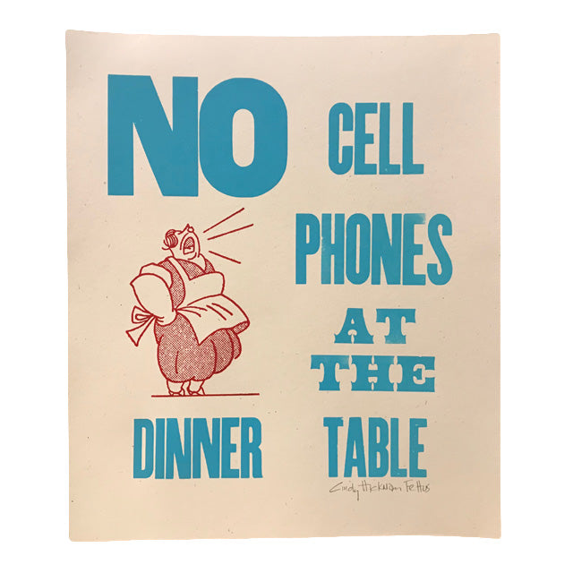 No Cell Phones Print