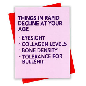 At Your Age Card