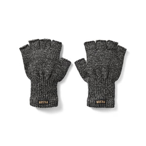 Fingerless Knit Gloves | Charcoal