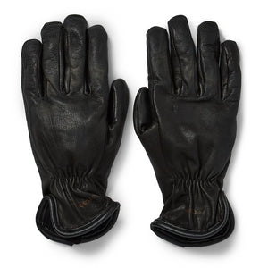 Lined Goatskin Gloves | Black