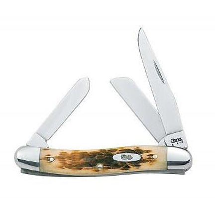 Amber Bone Medium Stockman Knife
