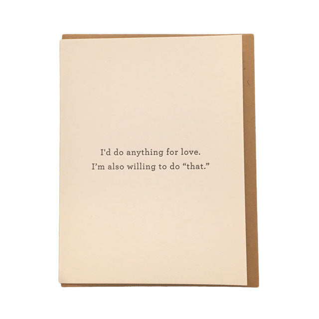Anything For Love Card