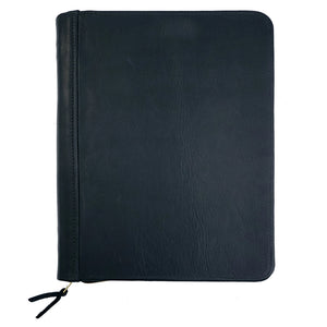 Aspen Leather Zippered Padfolio | Black