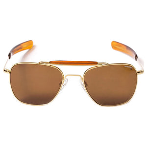 Aviator II | 23K Gold with Polarized American Tan Lens