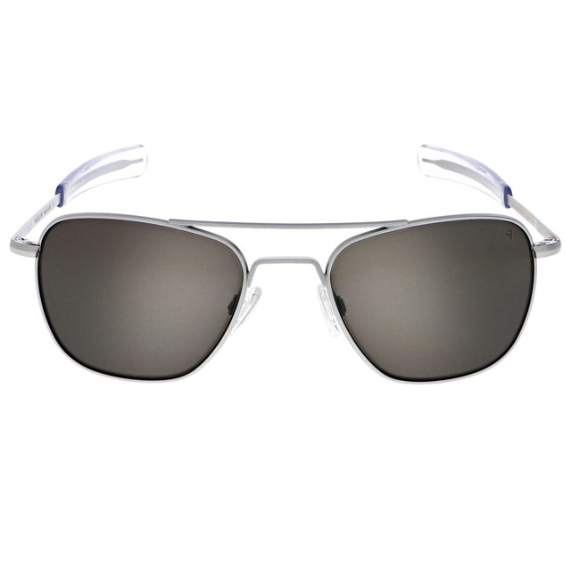 Aviator | Matte Chrome with Polarized American Gray Lens