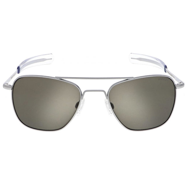 Aviator | Matte Chrome with American Gray Lens
