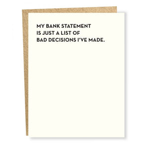 Bank Statement Card