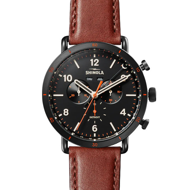 Canfield Sport 45mm | Dark Cognac Leather