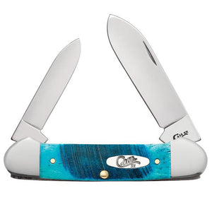 Caribbean Blue Bone Canoe Knife
